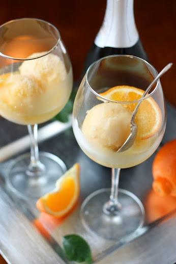 Tangerine Sorbet Champagne with a Twist!