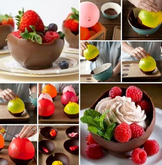 DIY! Chocolate Balloon Bowls…