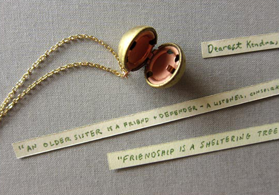 Let your Bridesmaids gift say something from theheart.