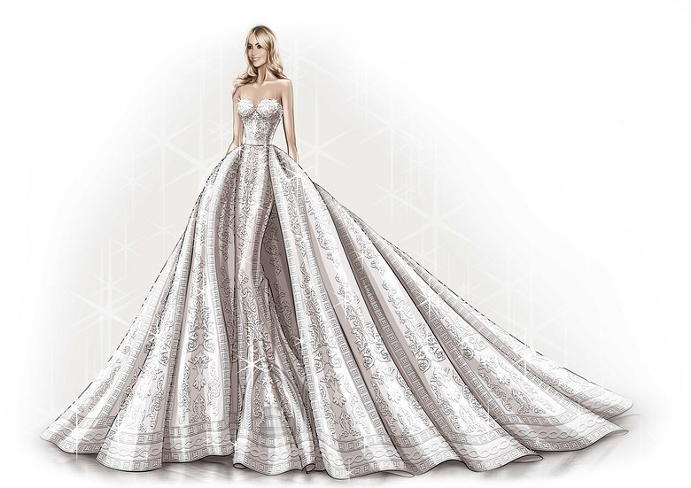 sofia-vergara-wedding-dress-sketch